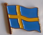 Sweden Country Flag Enamel Pin Badge